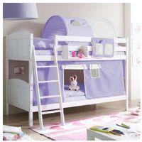 Ticaa łóżko piętrowe erni country białe drewno sosnowe kolor fioletowo-beżowy marki Ticaa kindermöbel
