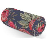 wałek z zakładkami, czerwone kwiaty na czarnym tle, Ø 20 x 50 cm, new art marki Dekoria