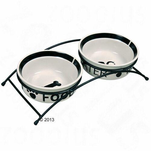Trixie Miski ceramiczne 0,6L na stojaku [24641]