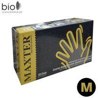 Diagnostyczne rękawice nitrylowe MAXTER czarne M - 100 szt