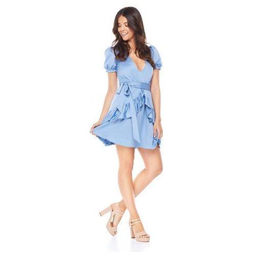 Sukienka Erica w kolorze błękitnym, kolor niebieski