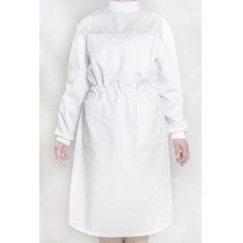 Fartuch protetyczny damski biały, bawełna + elastan rozm. 32-50 Hansa