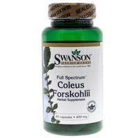 Kapsułki Swanson Forskolina Pokrzywa Indyjska (Coleus Forskholii) - 60 kapsułek