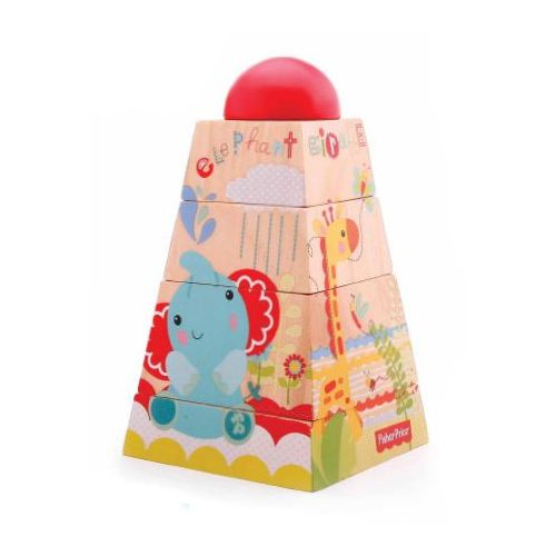 drewniana piramida 1011 marki Fisher-price