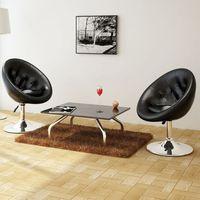 Vidaxl nowoczesne krzesła, chesterfield club, czarne x 2 (8718475848592)