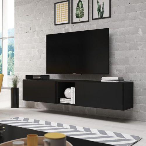 Nowoczesna Szafka Rtv Rock 10 Czarny Mat High Glossy Furniture