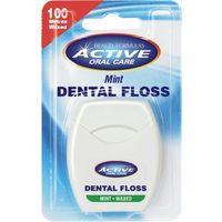 Nić dentystyczna active miętowa, woskowana 100 m - Beauty Formulas. DARMOWA DOSTAWA DO KIOSKU RUCHU OD 24,99ZŁ (5012251000642)