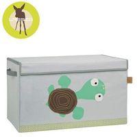 Lassig Casual Label - Skrzynia zamykana na zabawki Wildlife Żółw