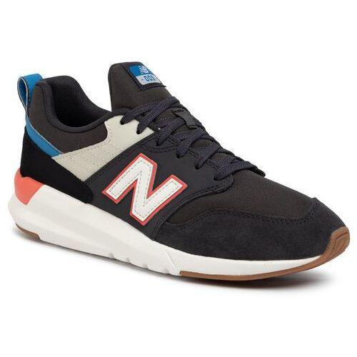 Sneakersy NEW BALANCE - MS009RD1 Czarny Szary, kolor szary
