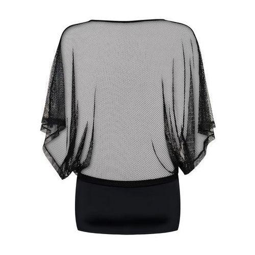 Obsessive Odważna koszulka sukienka - punker dress & thong black l/xl