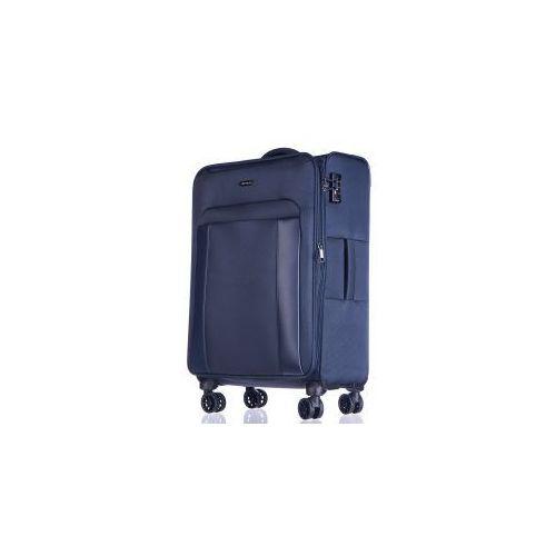 PUCCINI walizka duża 4 koła z kolekcji BERLIN materiał nylon możliwość poszerzenia zamek szyfrowy TSA, EM50390A