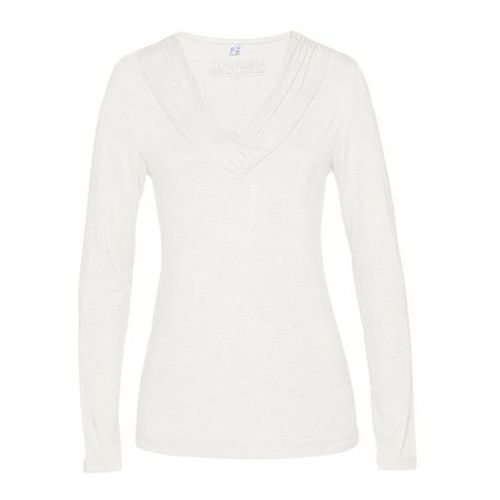 Bonprix Shirt z jedwabiem biel wełny