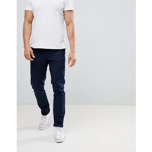 United Colors of Benetton Slim Fit Chinos in Navy - Navy, kolor szary