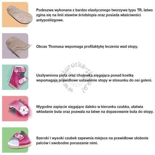 bc4c1a25 Buty profilaktyczne dla dzieci Dawid 1041 - Pudrowy róż ||Granatowy - foto  produktu