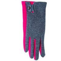 Rękawiczki YO! R-039 z Zapinką damskie ROZMIAR: 22 cm, KOLOR: wielokolorowy, YO!