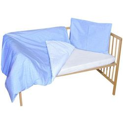 dwuczęściowy komplet pościeli sleeplease, niebieskie karo marki Cosing