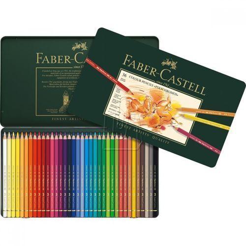 Polychromos kredki 36 kolorów w metalowej kasecie marki Faber castell