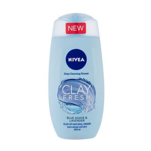 Nivea Clay Fresh żel pod prysznic 250 ml dla kobiet Blue Agave & Lavender - Rewelacyjny upust