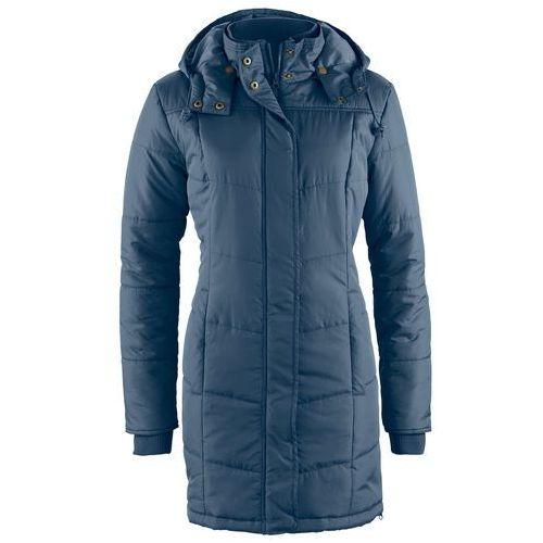 Długa kurtka pikowana, ocieplana ciemnoniebieski, Bonprix, 38-50