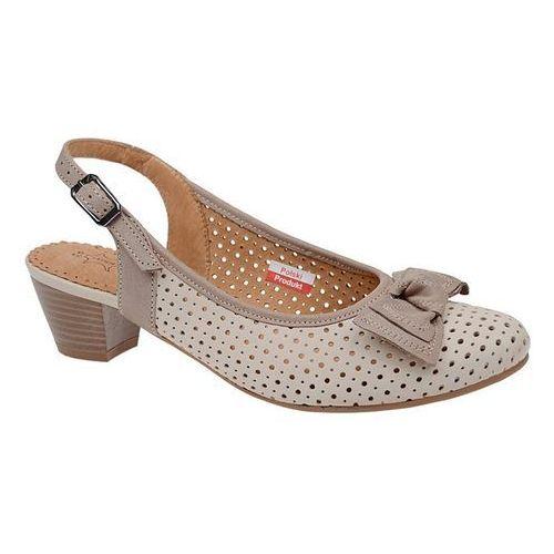 Czółenka sandały comfort 1504 beżowe na haluksy marki Axel