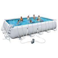 Bestway  basen ogrodowy prostokątny power steel 26845l (8718475911739)