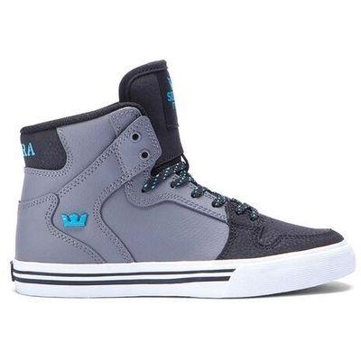f6e8fe370ace3 buty SUPRA - Kids Vaider Charcoal/Black/Turquoise-White (CCB) rozmiar: 20  Snowbitch