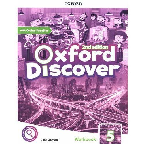 Oxford discover 5 wb + online practice w.2020 - praca zbiorowa, oprawa broszurowa