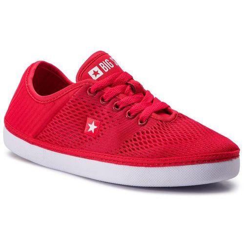 Tenisówki - dd274a420 red marki Big star