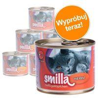 Mieszany pakiet próbny z drobiem, 4 różne smaki - 6 x 200 g marki Smilla