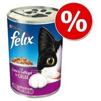 Felix 24 x 400 g w puszkach w super cenie! - kąski w galarecie, kaczka z drobiem