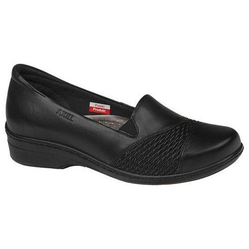 Półbuty na koturnie comfort 1370 czarne - czarny marki Axel