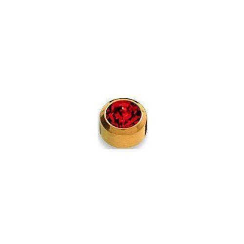 Kolczyk granat w oprawie pełnej kolor złoty+ r201y marki Studex