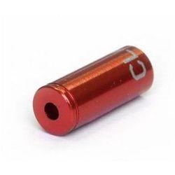 Końcówki pancerza przerzutki Clarks 4mm CNC aluminium czerwone CP-G-01-DP