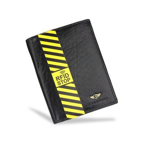 efcdcd5e9d8b6 Portfel Męski Skórzany Czarny 350 RFID STOP (Peterson) - sklep ...