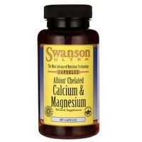 Tabletki SWANSON Albion Chelat Wapnia i Magnezu, 60 tabl