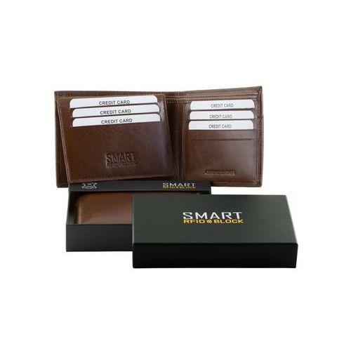 c7f1c1b8f97e6 Zobacz ofertę Koruma® ✅ męski slim portfel rfid bezpieczne karty  zbliżeniowe brązowy koruma - brąz połysk