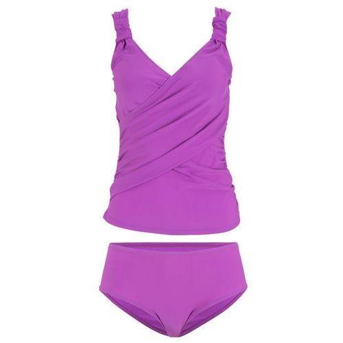 Biustonosz bikini bonprix niebiesko-zielony, kolor fioletowy
