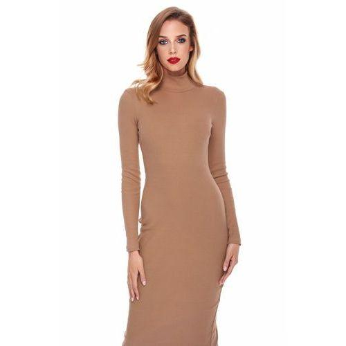 Sukienka eli w kolorze camelowym marki Sugarfree