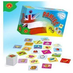 Pamięć - po angielsku i po polsku. gra edukacyjna do nauki języka angielskiego marki Alexander
