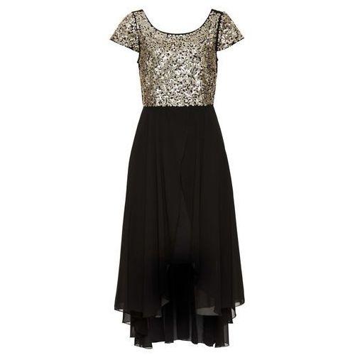 Sukienka wieczorowa bonprix czarno-złoty, w 4 rozmiarach