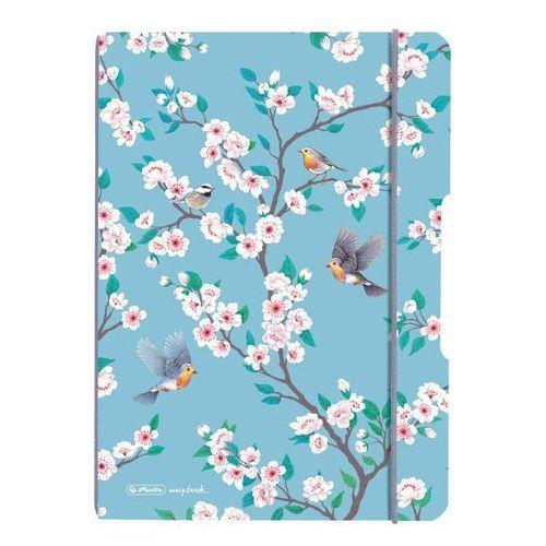 Notes notatnik a5 my.book flex pp z gumką - ladylike birds marki Herlitz