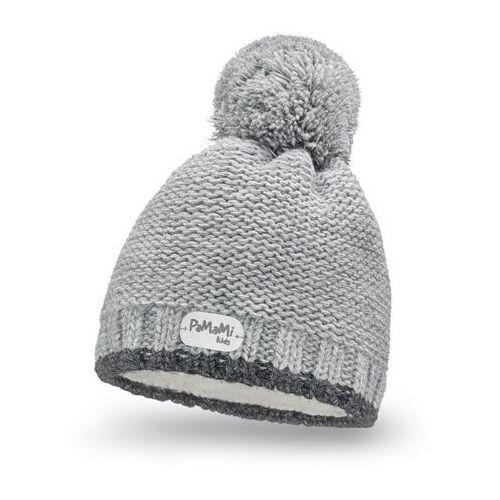 Pamami Zimowa czapka dziewczęca - jasnoszary - jasnoszary