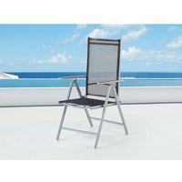 Beliani Elegancke krzesło aluminiowe meble ogrodowe catania