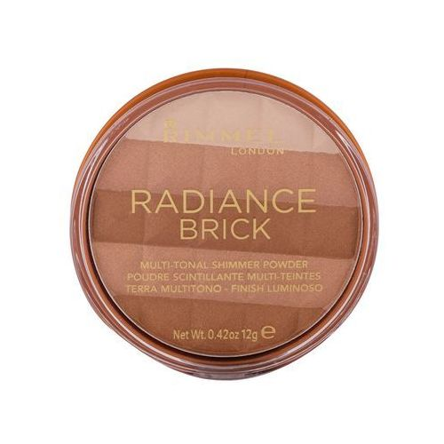 Rimmel London Radiance Brick bronzer 12 g dla kobiet 001 Light - Promocja