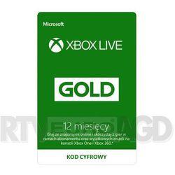 Subskrypcja Xbox Live Gold (12 m-cy) [kod aktywacyjny], PLPI
