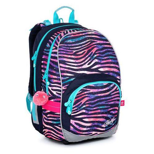 Topgal Dziewczęcy plecak w paski zebra kimi 21010 g (8592571013968)