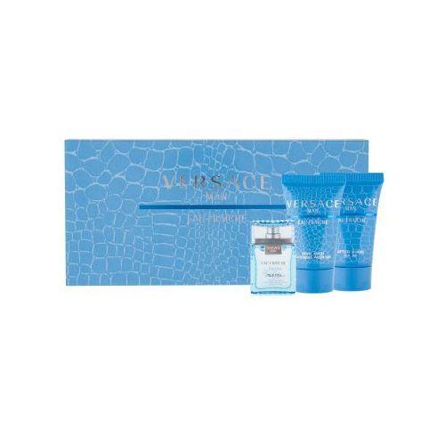 Versace man eau fraiche zestaw edt 5ml + 25ml żel pod prysznic + 25ml balsam po goleniu dla mężczyzn