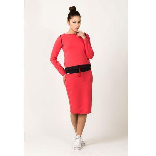 Ołówkowa sportowa spódnica midi Mila szara