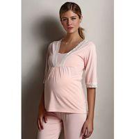 Ciążowa piżama ANGELA Łososiowy L