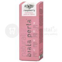 Biała perła natural raspberry wybielająca pasta do zębów z olejkiem z nasiom malin marki Vitaprodukt
